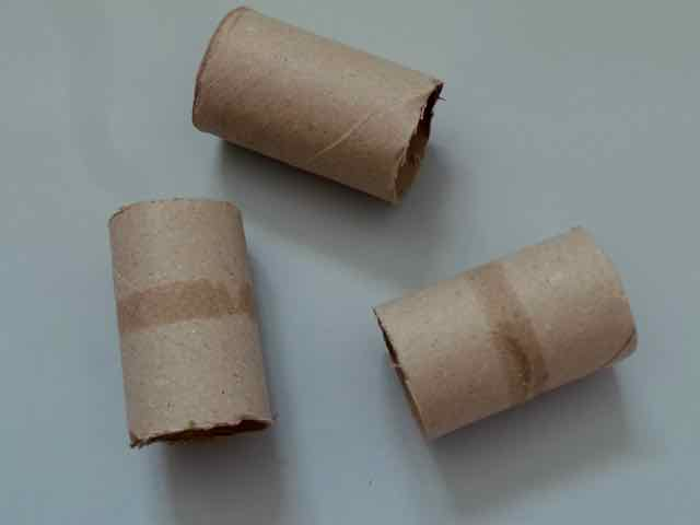 Cut kitchen roll cardboard