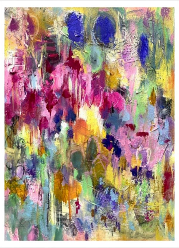 Abstract Meadow acrylic painting