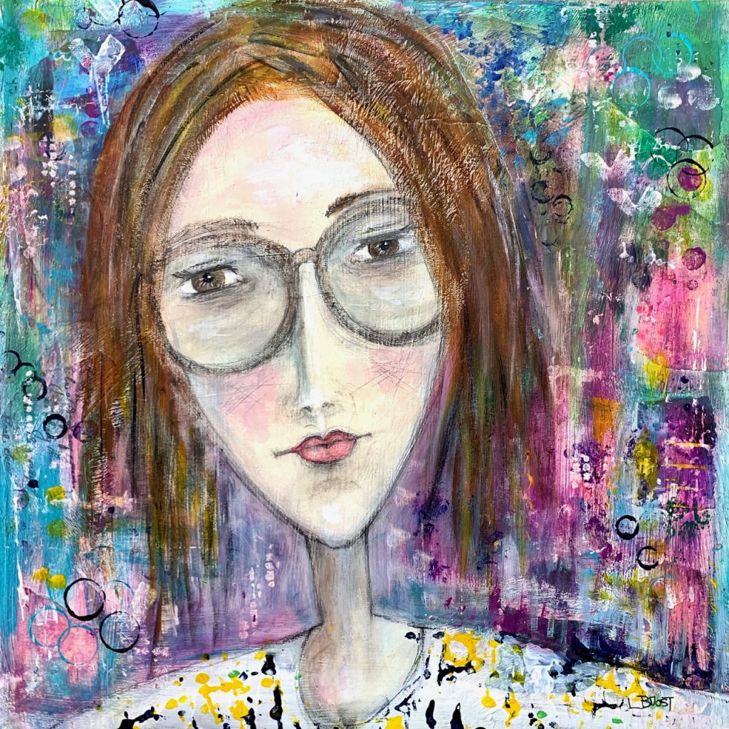 Quirky Portrait acrylic art
