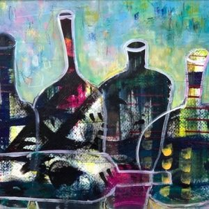 Acrylic abstract still life