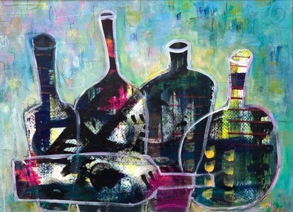 Acrylic abstract still life