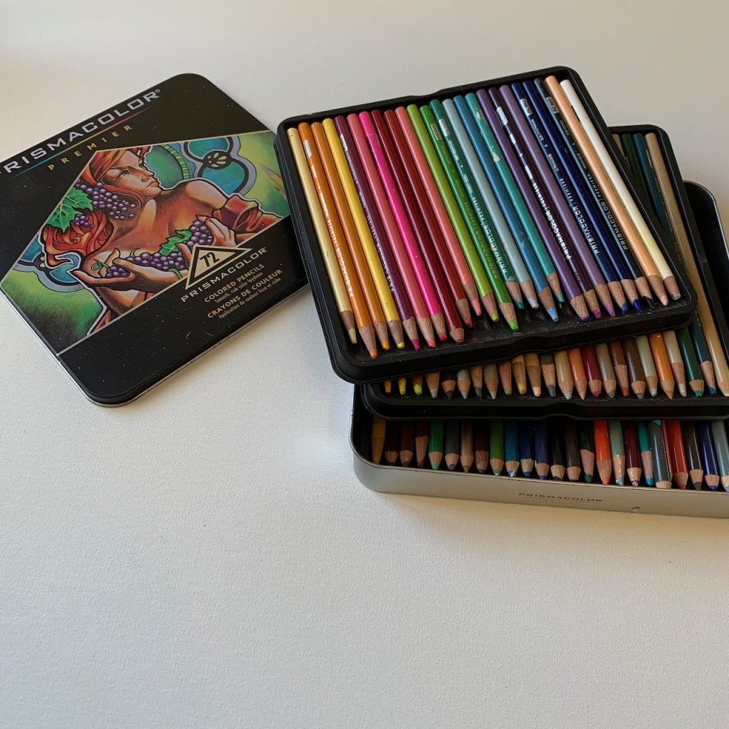 Prismacolor Premier colour pencils in tin