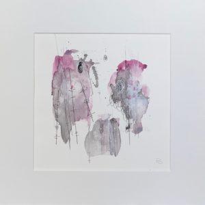 abstract watercolour small art