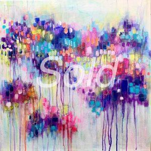 Abstract acrylic artwork on canvas