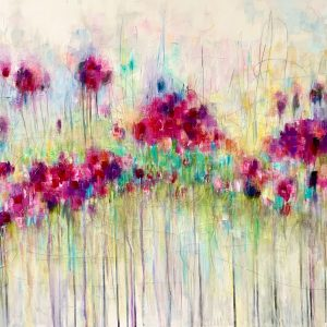 Acrylic Abstract Floral on canvas