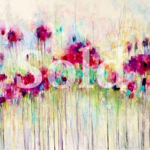 Abstract floral painting sold