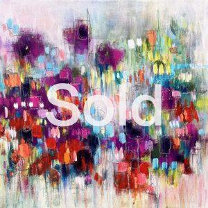 Abstract acrylic on deep edged canvas