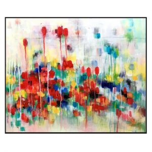 Abstract floral on canvas