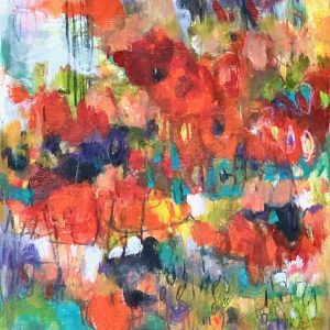 Abstract Floral Small Painting