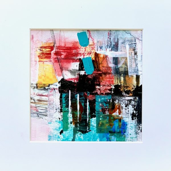 abstract acrylic art on paper