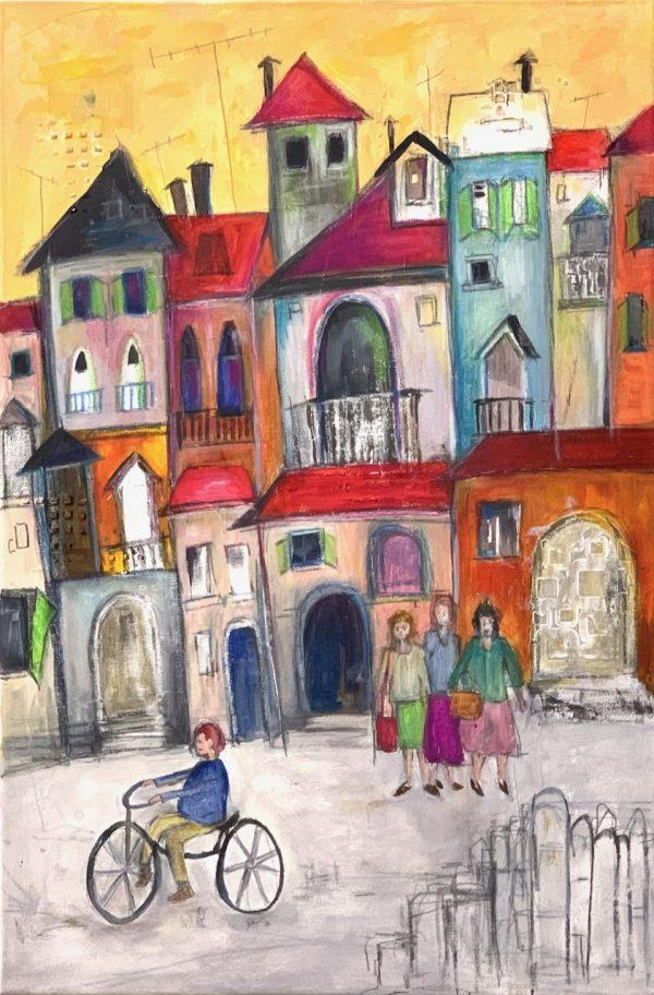 Whimsical Street Scene